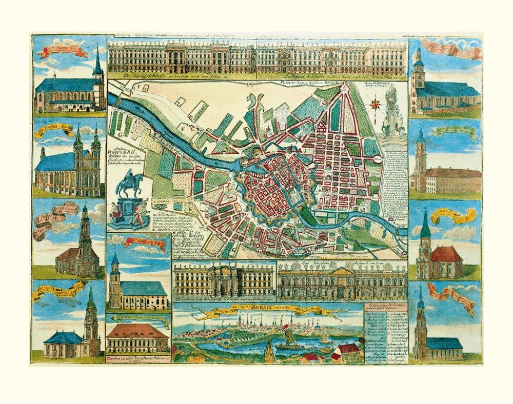 Historická mapa Berlína